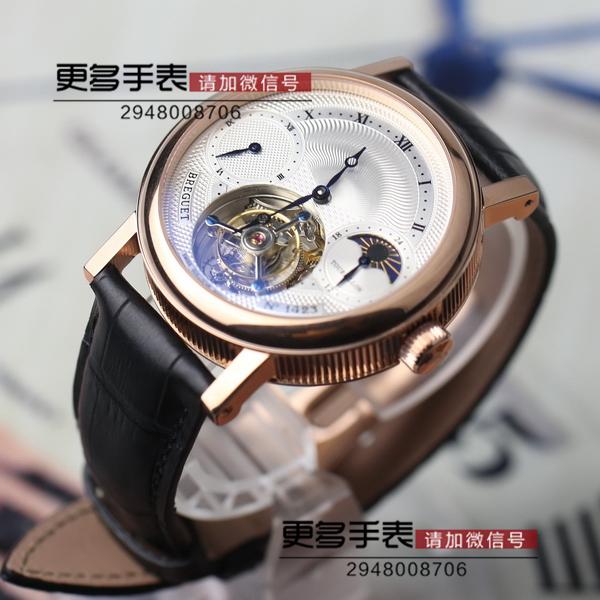 宝玑陀飞轮手表采用海鸥陀飞 轮机芯设计,直径42mm,非常完 美的一款